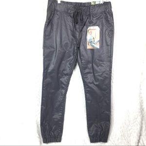 VIP jeans pewter silver jogger elastic waist pants